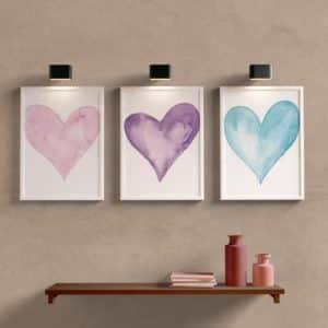 Kit Quadros Decorativos Coração Para Quarto