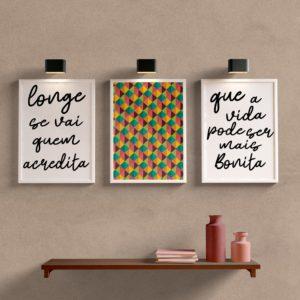 Kit Quadros Decorativos Sala Longe Se Vai