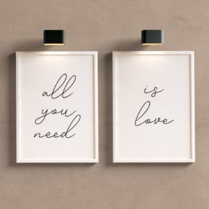 Kit Quadros Decorativos All you need is love
