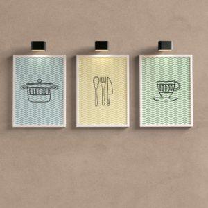 Kit Quadros Decorativos Cozinha