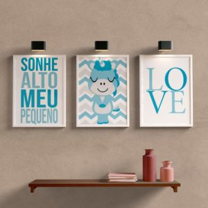 Kit Quadros Decorativos Quarto de Menino