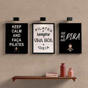 Kit Quadros Decorativos Pilates