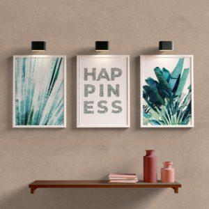 Kit Quadros Decorativos Happiness