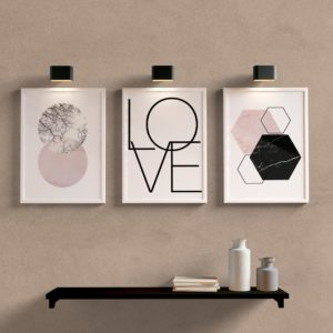 Kit Quadros Decorativos Sala Quarto Love