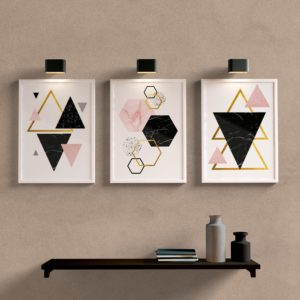 Kit Quadros Decorativos Sala Geométrico