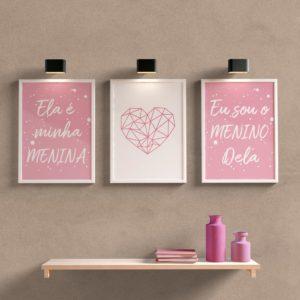 Kit Quadros Decorativos Para quarto/sala minha menina