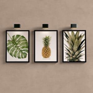 Kit Quadros Decorativos Abacaxi para cozinha