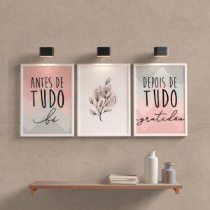 kit Quadros decorativos para sala ou quarto