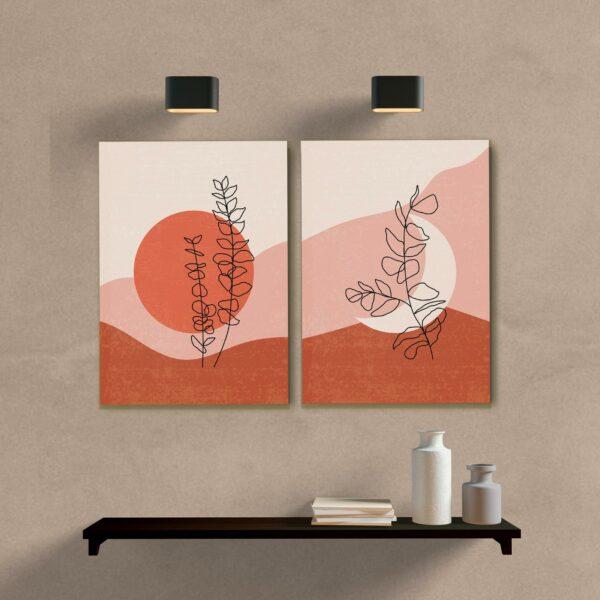 kit quadros decorativos minimalista