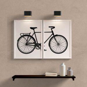kit quadros de bicicleta