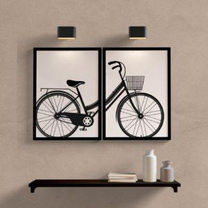 Kit Quadros Decorativos Bicicleta