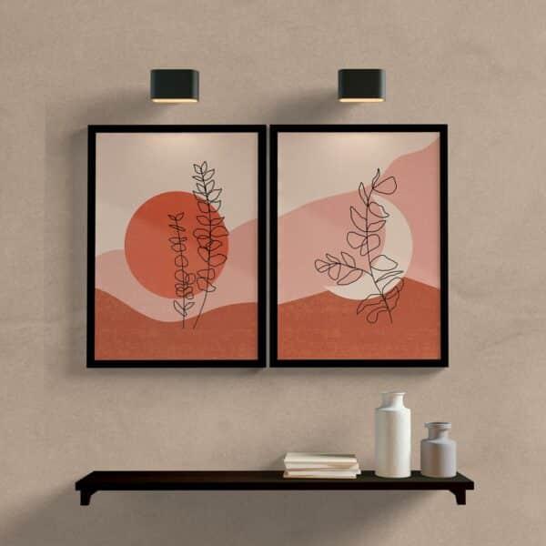 kit quadros decorativos para sala minimalista