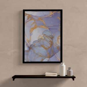 quadro decorativo abstrato lilas