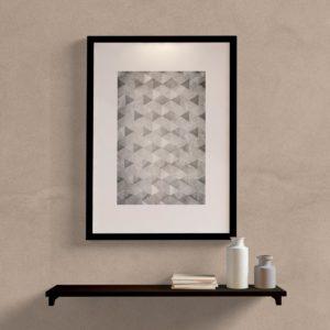 Quadro decorativo abstrato cinza