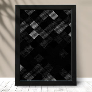 Quadro Abstrato black
