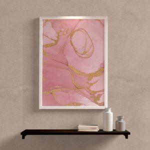 quadro decorativo abstrato rosa
