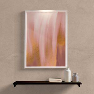 Quadro decorativo abstrato textura rose