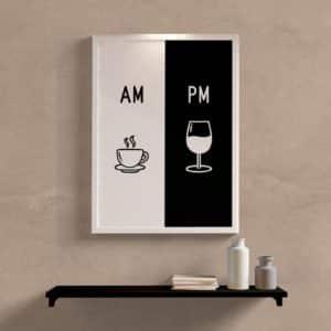 Quadro Decorativo AM PM
