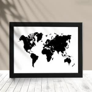 Quadro Decorativo Mapa
