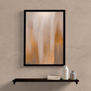 Quadro decorativo abstrato textura marrom