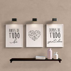 Kit Quadros Decorativos Gratidão