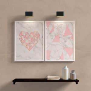 kit-quadros-decorativos-coraçao-geometrico