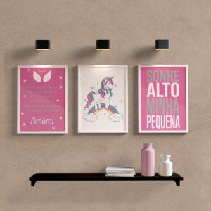 kit-quadros-decorativos-unicornio