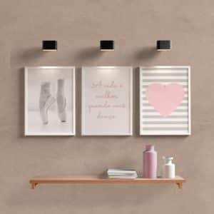 Kit quadros decorativos ballet Vall