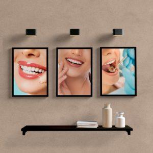 kit quadros decorativos dentista