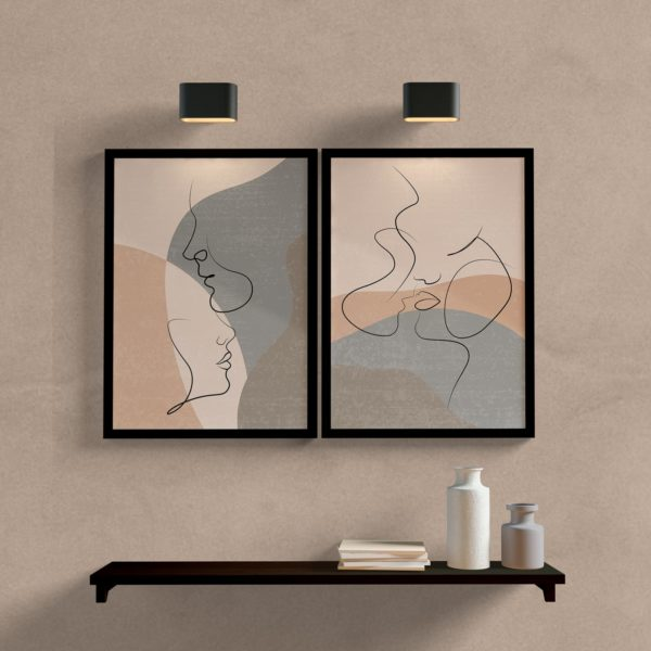 kit quadros decorativos casal