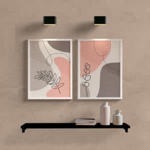 Kit Quadros Decorativos Delicate