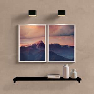 kit quadros de paisagens para sala montanha