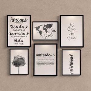 Kit Quadros Decorativos Amigos
