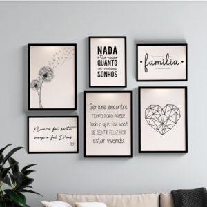 Kit Quadros decorativos frases